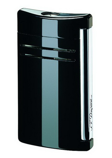 S.T. Dupont 20104 Maxijet Black Lacquer & Chrome Lighter
