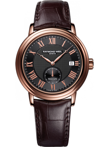 Raymond Weil Maestro Automatic Rose gold leather strap