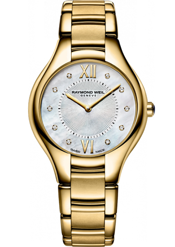 Raymond Weil - NOEMIA 32 mm Yellow gold PVD plated stainless steel 10 diamonds