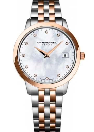 Raymond Weil TOCCATA 34 mm Steel and rose gold plating, 11 diamonds - 5388-SP5-97081