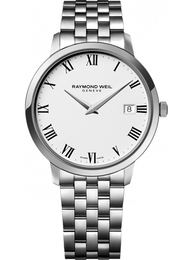 Raymond Weil - TOCCATA 42 mm Steel on steel white dial