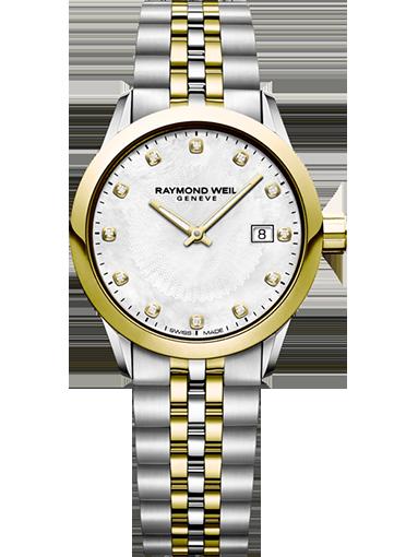 RW FREELANCER 29 mm Two-tone, white mother-of-pearl, set with 12 diamonds 5629-STP-97081