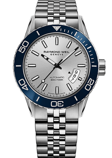 RW FREELANCER Automatic date Steel on steel, silver dial 2760-ST4-65001