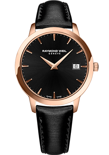 RW TOCCATA Rose gold PVD plated stainless steel, satin strap, black dial 34 mm 5388-PC5-20001