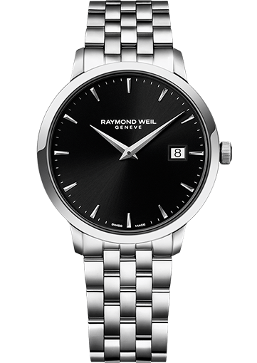 RW TOCCATA Steel on steel black dial 39 mm 5488-ST-20001