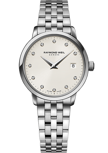 RW TOCCATA 29 mm Steel on steel, ivory dial, 11 diamonds 5988-ST-40081