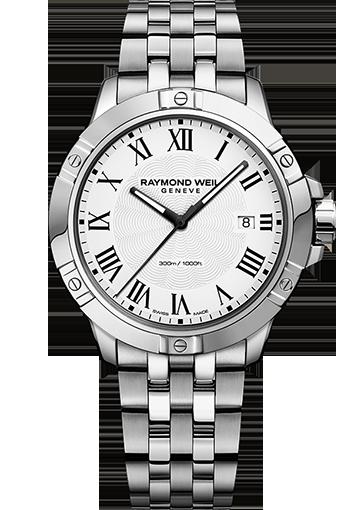 RW TANGO Date Steel on steel, white dial 8160-ST-00300