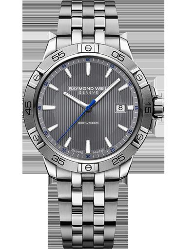 RW TANGO tango 300, steel on steel, grey dial Date 8160-ST2-60001